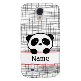 Red Black White Personalized Panda Galaxy S4 Case