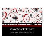 Red Black White Real Estate Season's Greetings Greeting Card