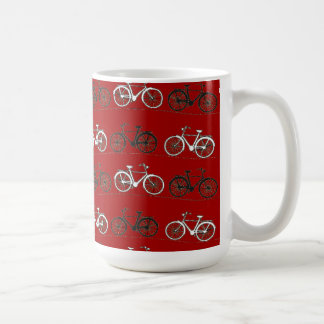Red Black White Vintage Bicycles  Bikes Cycling Coffee Mug