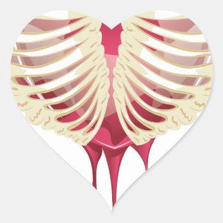 Red Bleeding Heart in Thorax Heart Sticker