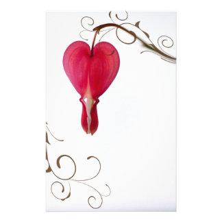 Red Bleeding Heart Wedding Personalised Stationery