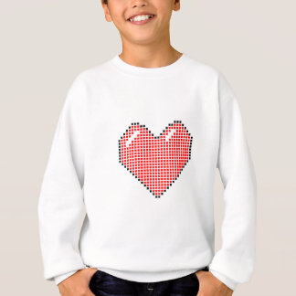 Red Blocky Heart Sweatshirt