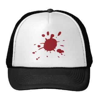 Red Blood Splatter Design Trucker Hats