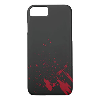 Red Blood Splatter iPhone 7 Case