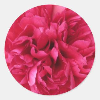 Red Bloom Classic Round Sticker