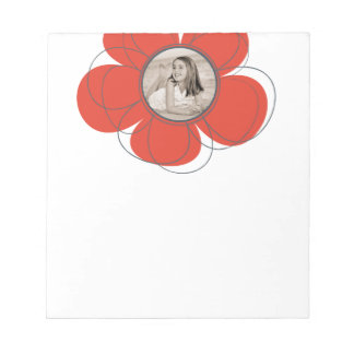 Red Bloom Notepad