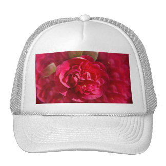 Red Bloom with filter Trucker Hat