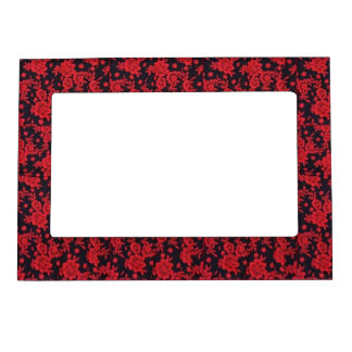 Red Blooms Magnetic Frame