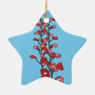 Red Blossom Christmas Ornament