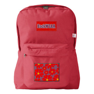 Red Blossoms Designer Modern backpack Sale