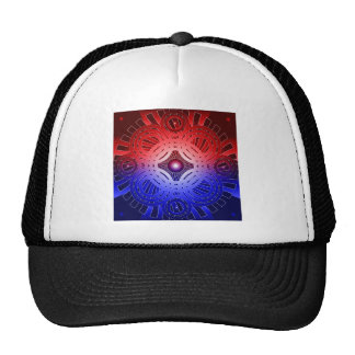 Red & Blue Abstract Circles: Cap