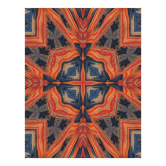 Red & Blue Abstract Pattern Full Color Flyer