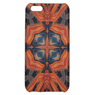 Red Blue Abstract Pattern iPhone 5C Covers