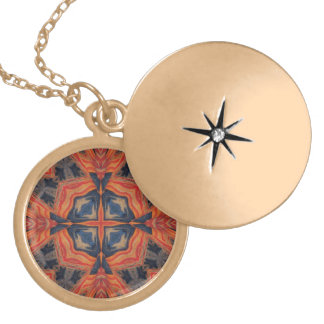 Red Blue Abstract Pattern Pendants