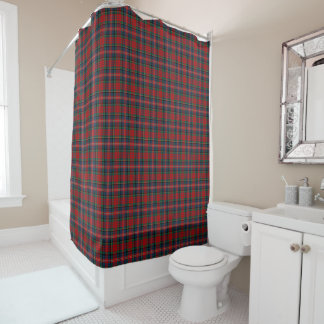 Red, Blue, and Green Scottish MacPherson Tartan Shower Curtain