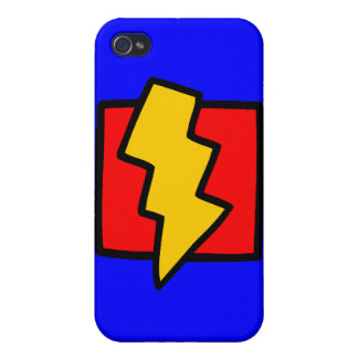 Red Blue and Yellow Lightning Bolt iPhone 4 Case