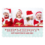 RED BLUE, BE MERRY | HOLIDAY PHOTO CARD CUSTOM ANNOUNCEMENT