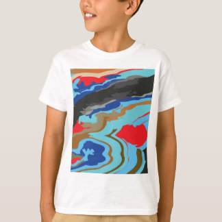 Red Blue Camouflage Tee Shirt