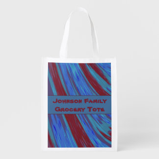 Red Blue Color Swish Abstract