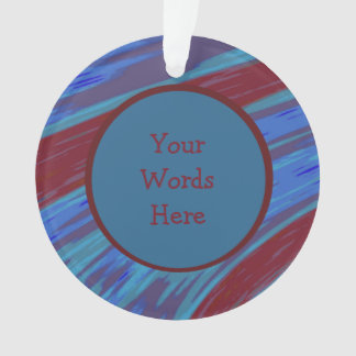 Red Blue Color Swish Abstract Ornament