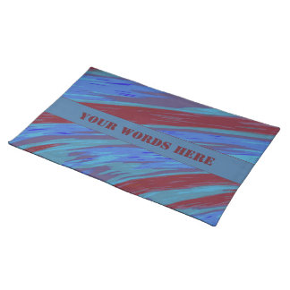 Red Blue Color Swish Abstract Placemat