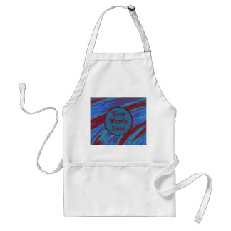 Red Blue Color Swish abstract Standard Apron