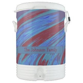 Red Blue Color Swish Cooler