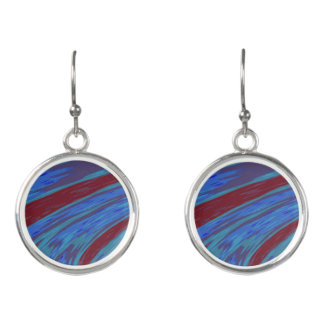 Red Blue Color Swish Earrings