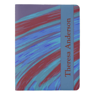 Red  Blue Color Swish Extra Large Moleskine Notebook