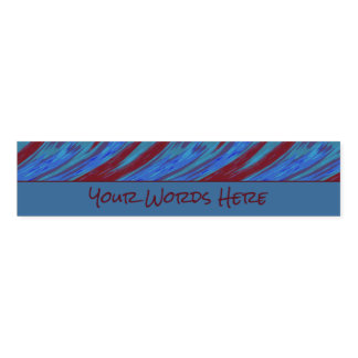 Red Blue Color Swish Napkin Band