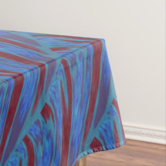 Red Blue Color Swish Tablecloth