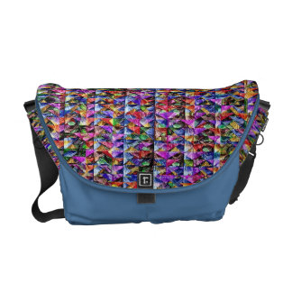 Red Blue Complex Courier Bags