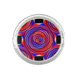 Red & Blue Counter Spiral by Kenneth Yoncich