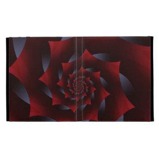 Red & Blue Dark Spiral Fractal iPad Folio iPad Folio Case