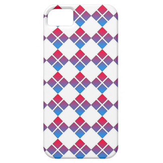 Red Blue Diamond 4Square iphone 5 case