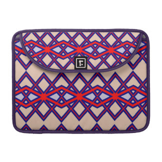 Red & Blue Diamond Flower Macbook Pro Sleeve For MacBooks