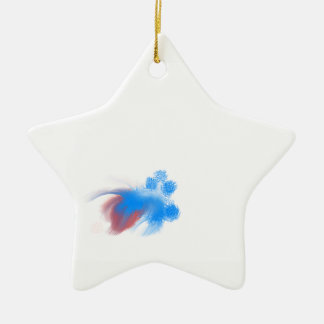 Red & Blue Fuzzy Christmas Ornament