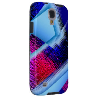 Red Blue Geometric Desing on Galaxy S4 cover Galaxy S4 Case