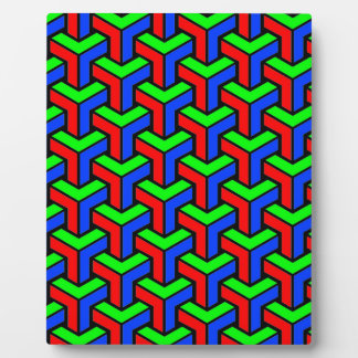 Red, Blue, Green Geometric Pattern Plaque