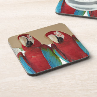 Red Blue Green Macaws (Parrots) Coaster