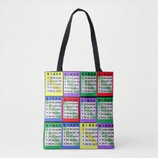 Red, Blue, Green, Purple, Yellow BINGO Cards Bag