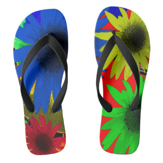Red Blue Green Yellow Flip Flop Shoes