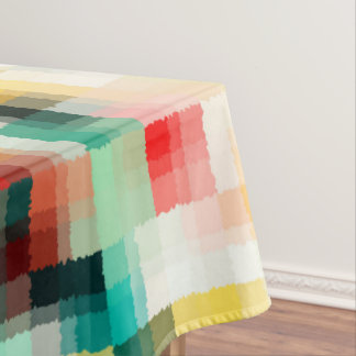 Red Blue Green Yellow White Abstract Pattern Tablecloth