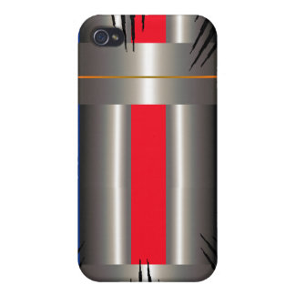 Red Blue grey  iPhone 4/4S Cover