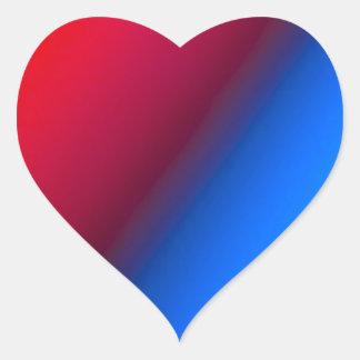 Red Blue Heart Sticker