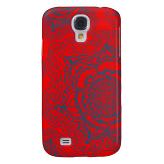 Red Blue Mandala Pattern Galaxy S4 Case