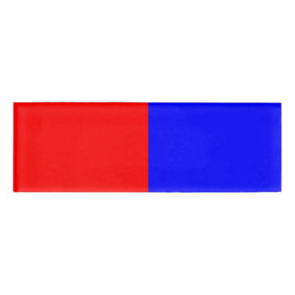 Red & Blue Name Tag