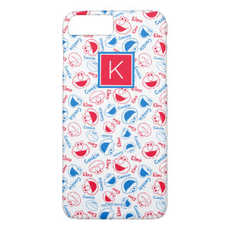 Red & Blue Pattern | Monogram iPhone 8 Plus/7 Plus Case
