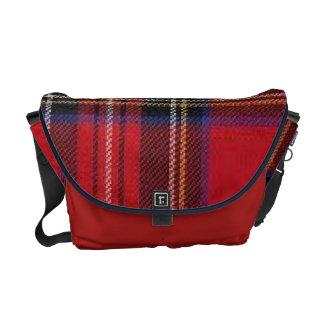 Red, Blue Plaid Messenger Bag