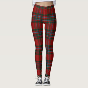 9aa95be89a95a Women's Red And Green Tartan Leggings & Tights | Zazzle UK